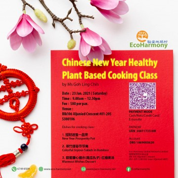 Chinese New Year Healthy Plant Based Cooking Class