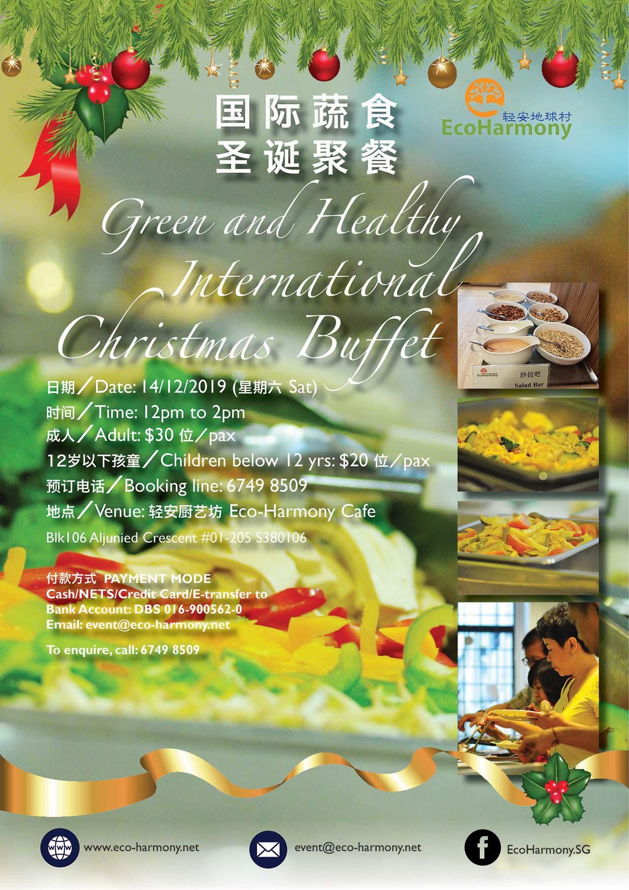 Green & Healthy International Christmas Buffet