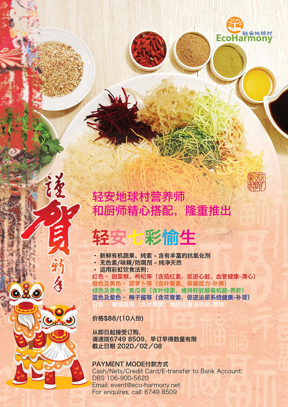 Chinese New Year Rainbow Yusheng